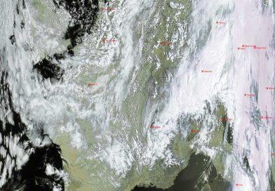 Метеоснимок со спутника METEOR-M2 28.04.2017 09:26 UTC