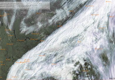 Метеоснимок со спутника METEOR-M2 20.04.2018 06:16 UTC